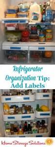 Refrigerator Shelf Labels by How To Organize Your Refrigerator