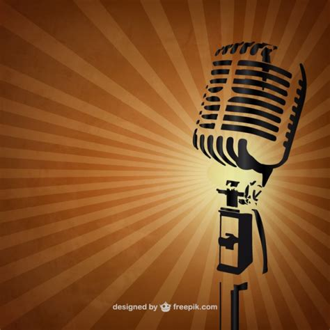 fotos retro retro microphone background vector free