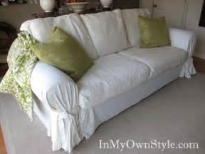 Linen Loveseat Slipcover How To Cover A Chair Or Sofa With A Loose Fit Slipcover