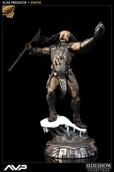 Predator Statue vs predator scar predator statue by sideshow collectib sideshow collectibles