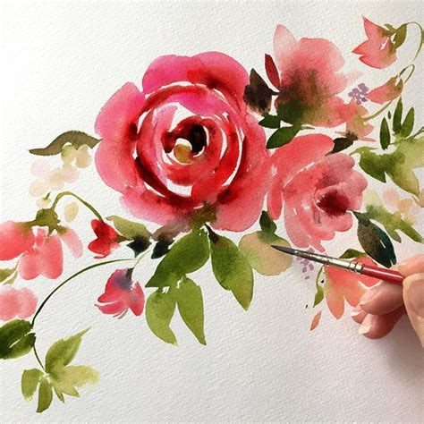 watercolor rose tutorial for beginners 17 best images about painting roses tutorial on pinterest