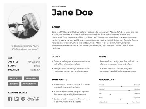 persona card template all free sketch downloads and resources sketch freebie