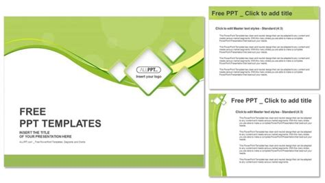 squares powerpoint template green abstract background and squares powerpoint templates
