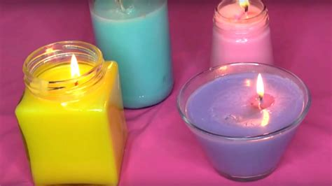 how to make candles at home diy colorful crayon candles no wax youtube