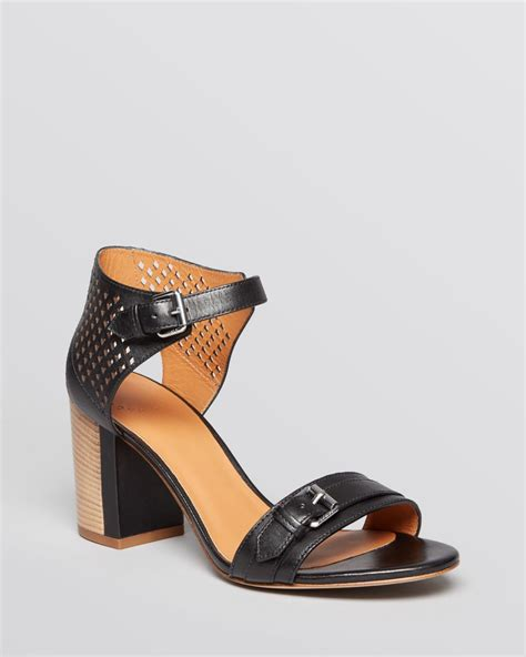 block heel ankle sandals marc by marc block heel ankle sandals in