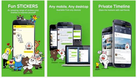 line for android free calls messages android app