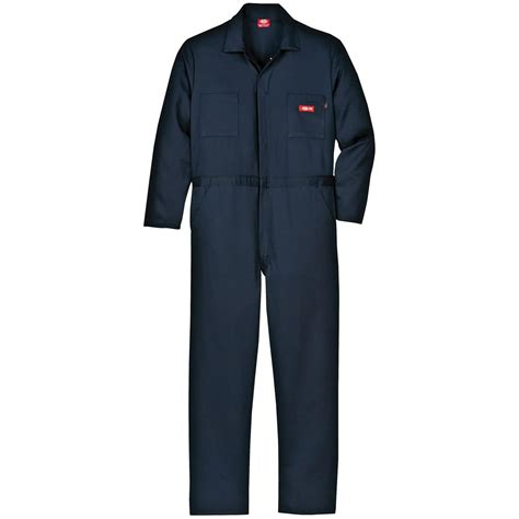Overall By Navy dickies 174 resistant sleeve work coveralls navy