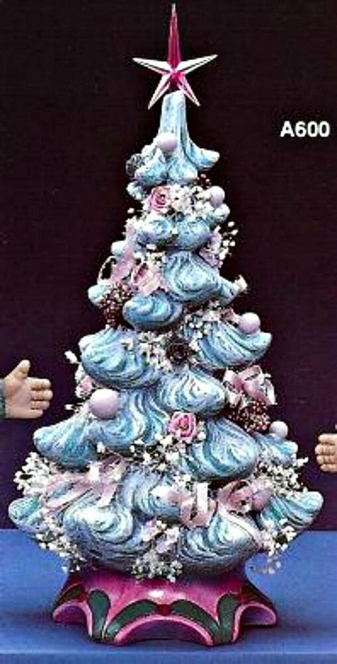 how to paint a ceramic christmas tree ceramic bisque tree with attached base light kit incl ready to paint ebay