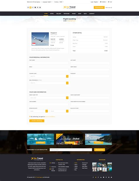 flight booking template gallery templates design ideas