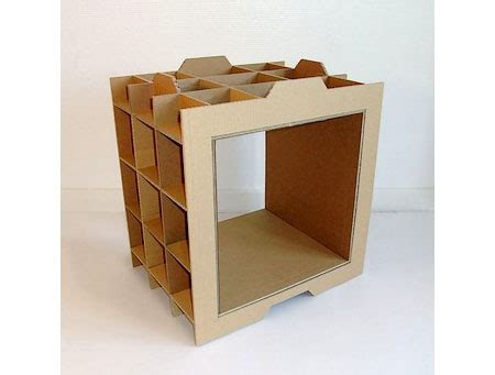 home made cardboard shelf green design