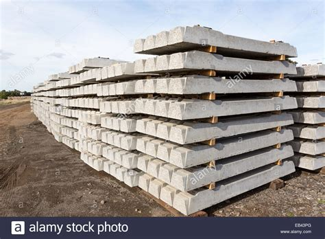 Concrete Rail Sleepers by Concrete Railway Sleepers Stacked Awaiting Railway Line