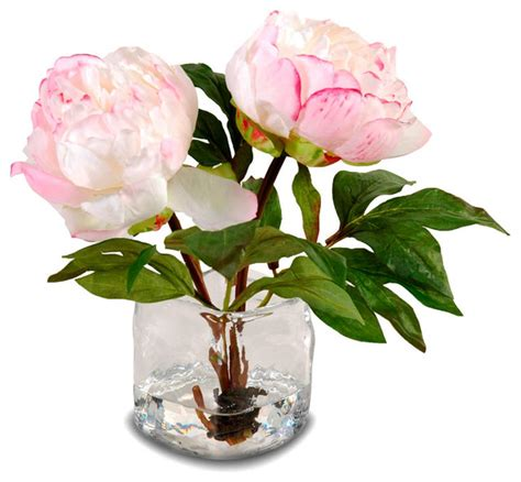 How To Arrange Peonies In A Vase by Peony Arrangement In Vase Chagne Pink Traditional