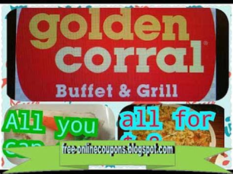 Coupons For Golden Corral Buffet Printable