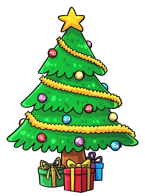 christmas tree cartoon ria9dedil public domain tree clipart best