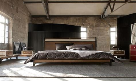 masculine bedroom furniture industrial style bedroom