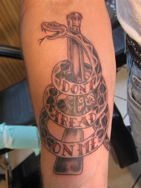 tattoo me don t tread on me by david at california tattoos in