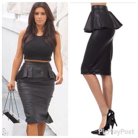 85 dresses skirts s m l black peplum faux
