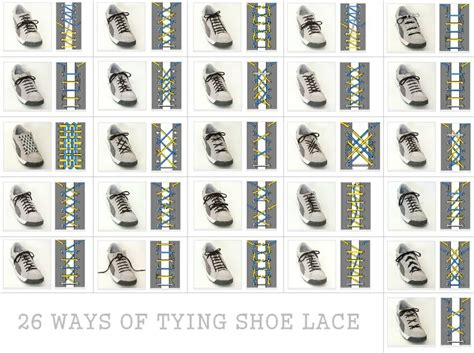 how to tie shoes city dweller 26 ways to tie shoe lace other