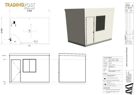 brand new sleepout 3 6m x 2 4m under 10 square meters outdoor brand new 3 6m x 2 4m site shed for sale in bayswater vic