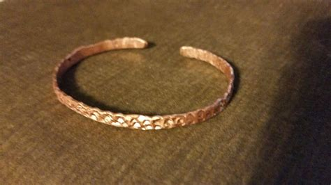how to make copper jewelry from wire diy day 6 textured copper bracelet from copper ground