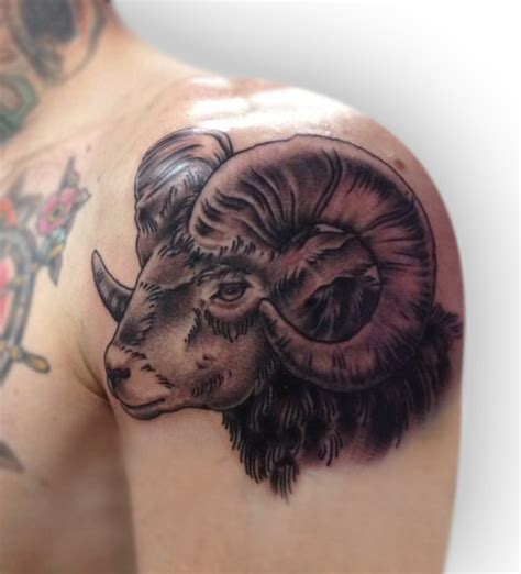 sheep tattoo designs black ink sheep on left shoulder