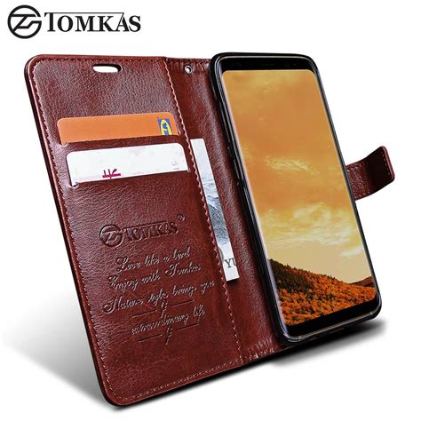 Samsung Galaxy S8 Plus Leather Cover Casing Keren aliexpress buy wallet for samsung galaxy s8 s8 plus tomkas original pu leather flip