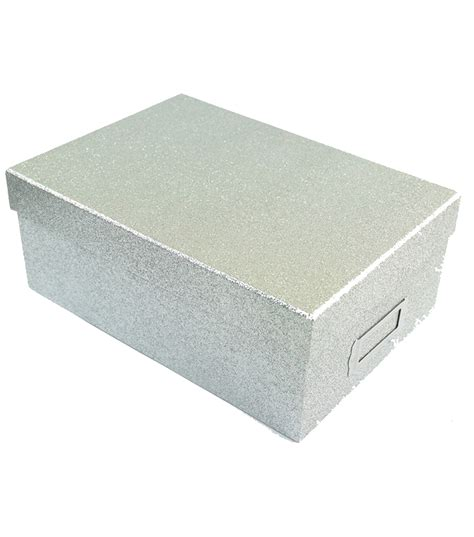 Catalog Shopping Home Decor silver glitter photo storage box jo ann