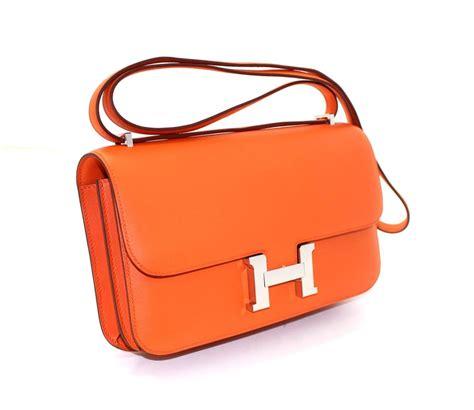 Herms Skin Mini Sling Bag hermes orange leather constance elan for sale at 1stdibs