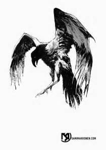 s m coma x a crow tattoo design