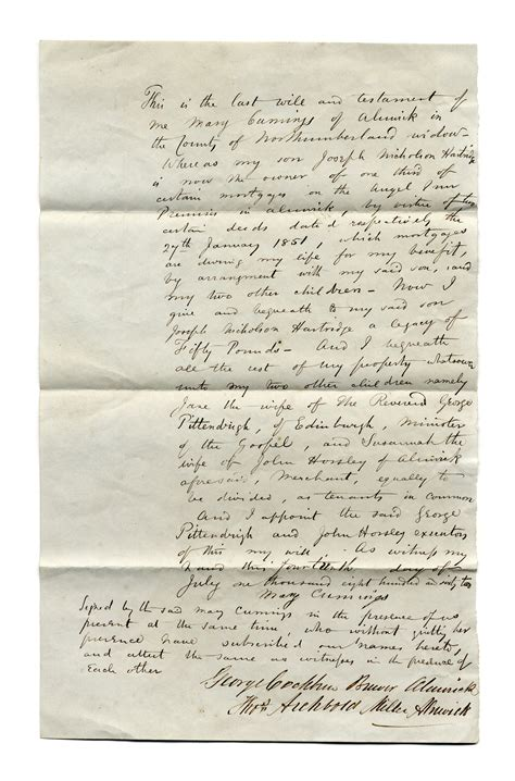 Bank Letter Northumbria general northumberland archives