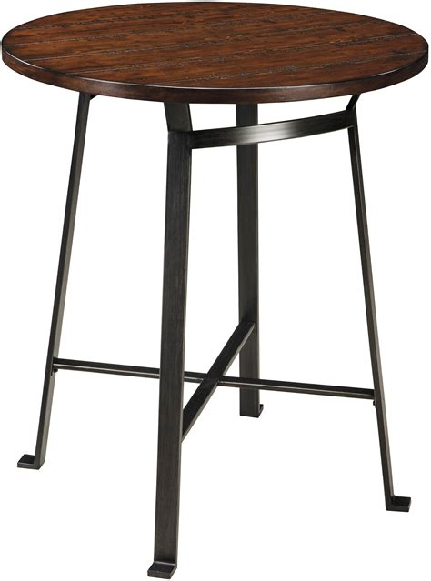 counter table challiman round dining room counter table from ashley