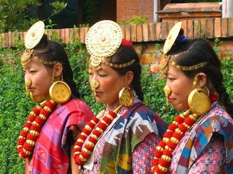 Fashion Kiranti limbu from nepal in traditional dress ethnic
