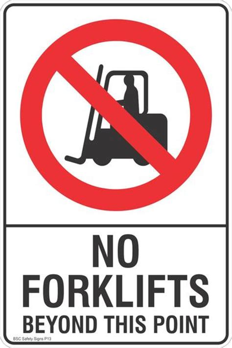 Sticker Safety Sign Traffic Sign No no forklifts beyond this point safety sign prohibited stickers restricted area labels
