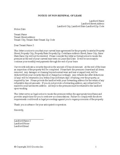 Commercial Lease Extension Letter Uk 3 day eviction notice florida template business
