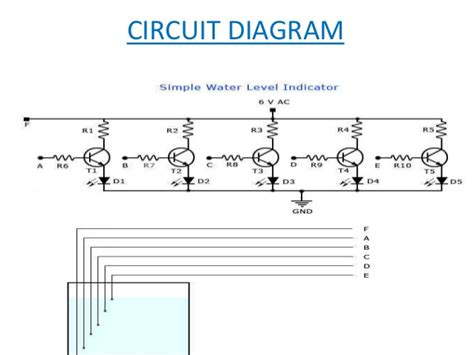 water level indicator project with circuit diagram water level indicator mini project