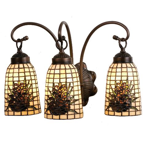 pine cone vanity lights pinecone lodge painted vanity light cabin place
