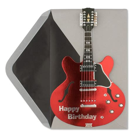 printable birthday cards with guitars happy birthday electric red guitar birthday cards papyrus
