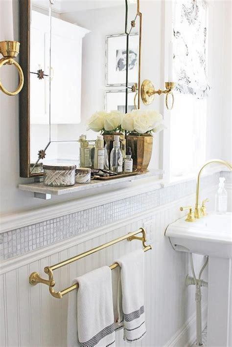 Marble Bathroom Shelf by Bathroom With Marble Shelf Transitional Bathroom