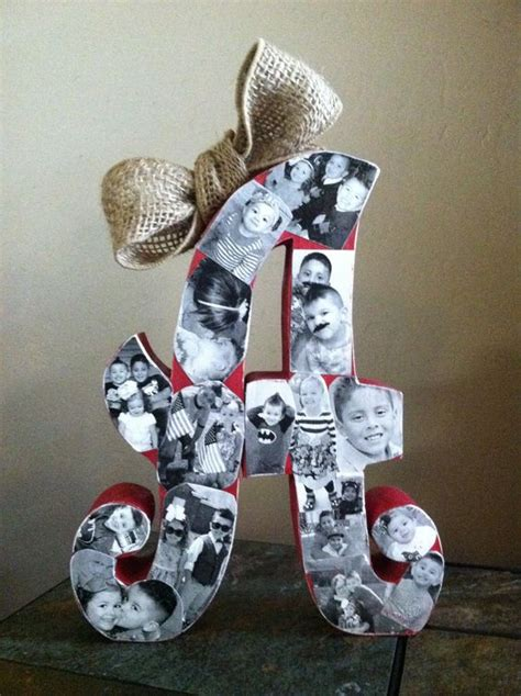 Gift Ideas Starting With Letter Y wood letter picture collage mothers day gift all