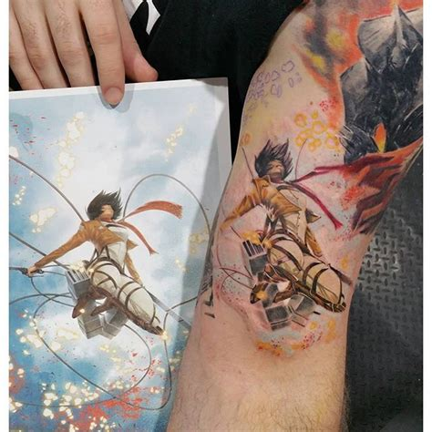attack on titan tattoo by lukeandthemachine instagram tatu