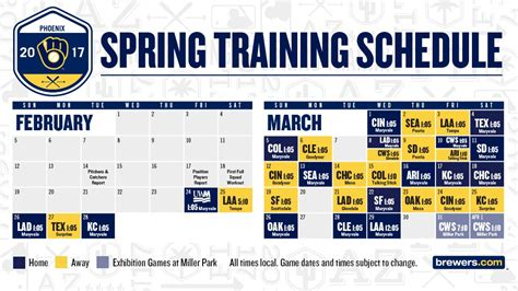 printable brewers schedule brewers spring training tickets go on sale monday cait