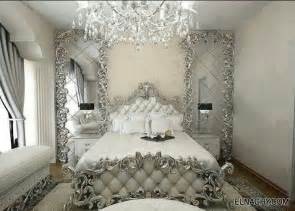 Silver And White Bedroom Designs Chambre Blanc Argent 233 Chambres 224 Coucher 233 L 233 Gantes