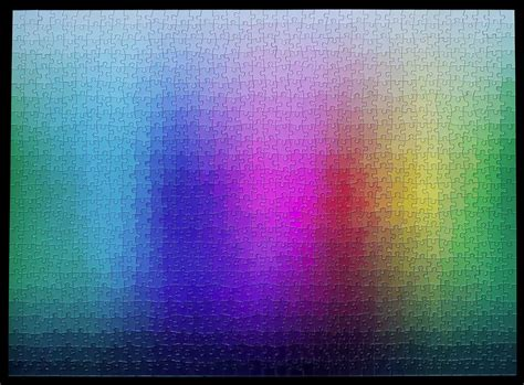 1000 colours rainbow cmyk gamut jigsaw puzzle by clemens