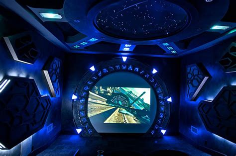 Space Themed Wall Murals top 5 themed home theater designs interiorholic com