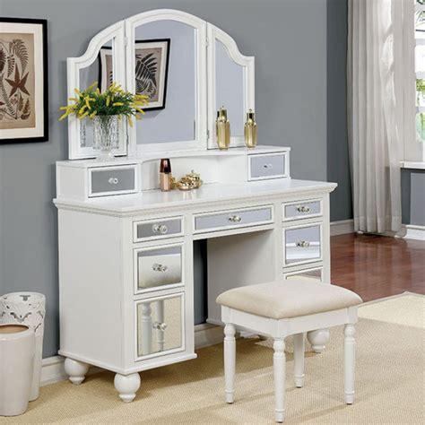modernes badezimmer vanity set furniture of america vanity w stool tracy