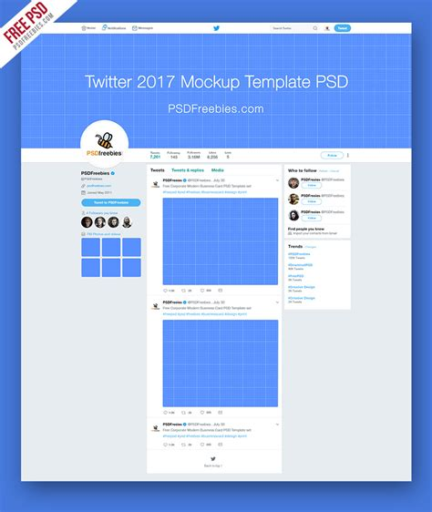 Twitter 2017 Mockup Template Free Psd Psdfreebies Com Psd Website Templates Free 2017