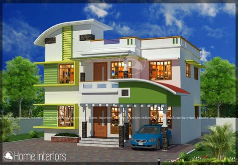 1800 square floor 4 bhk modern home design