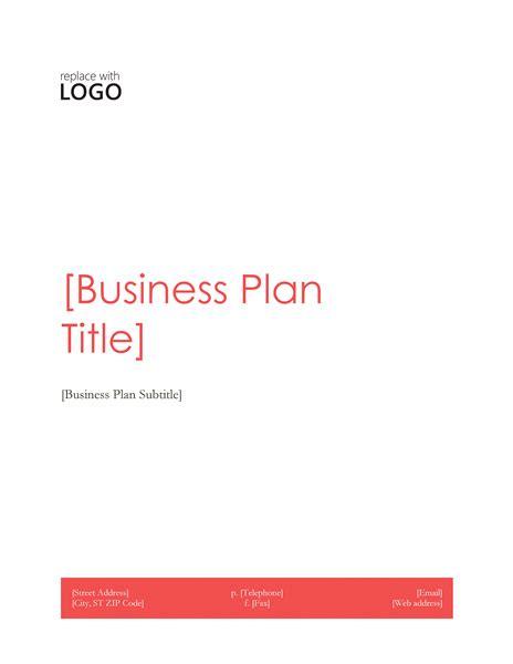 Business Plan Business Plan Microsoft Template