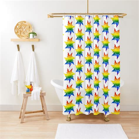 Pride Sun Gay Shower Curtain By Yangtbh Redbubble