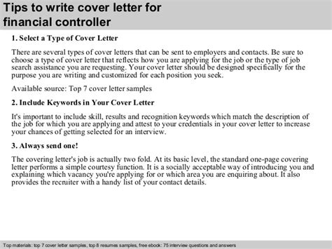 Small Business Controller Cover Letter by Financial Controller Cover Letter